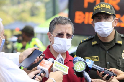 Luis Suárez, gobernador encargado de Antioquia