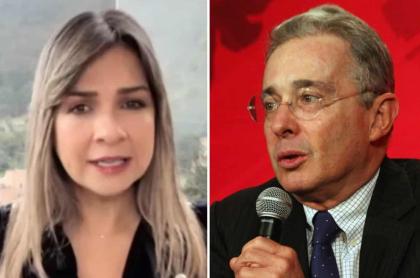 Vicky Dávila y Álvaro Uribe