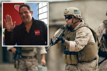 Germán Vargas Lleras / Militares de la Marina estadounidense
