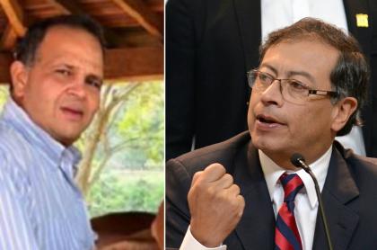 José Guillermo 'Ñeñe' Hernández y Gustavo Petro