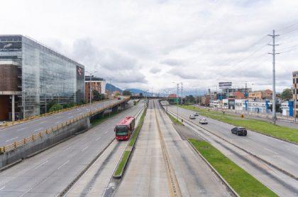 Calles en cuarentena, Bogotá.