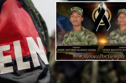 Guerrillero del Eln / Militares asesinados, Jader Antonio Blanco y César Augusto Alcendra