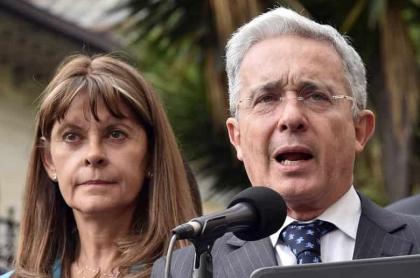 Álvaro Uribe y Marta Lucía Ramírez