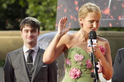 Daniel Radcliffe y J.K. Rowling