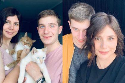 Marina Balmasheva y su novio
