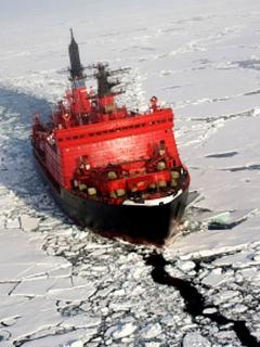 Barco rompehielos como los que Trump quiere desplegar en 2029 en el Ártico.