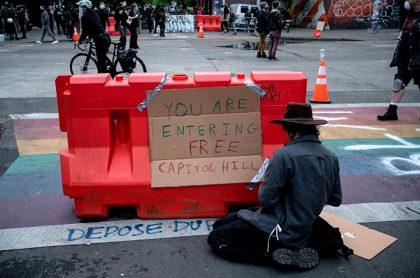 Barricadas en Seattle, EE. UU.