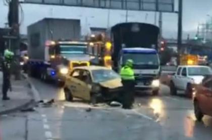 Accidente de tránsito en el sur de Bogotá