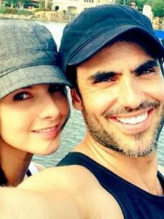 Carolina Cruz, presentadora, y Lincoln Palomeque, actor.
