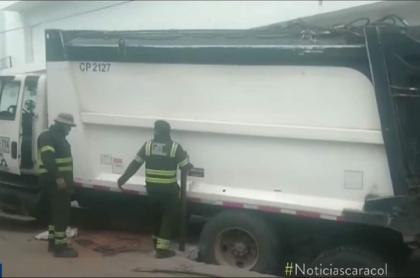 Camión de basuras en Santa Marta.