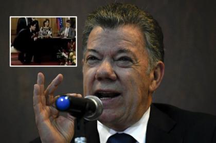 Juan Manuel Santos en video con Alex Saab
