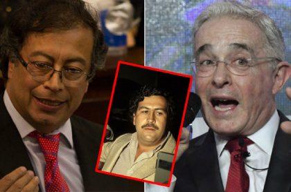 Gustavo Petro y Álvaro Uribe, en pelea por nexos con Pablo Escobar.