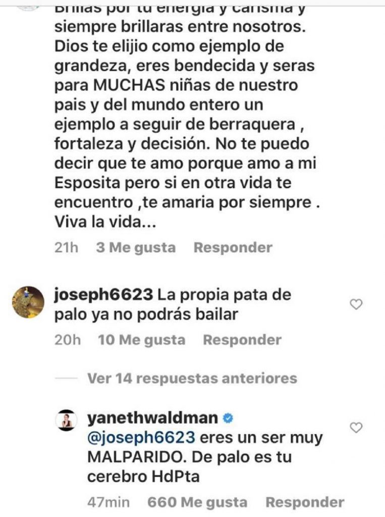 Yaneth Waldman - Instagram: danielaalvareztv