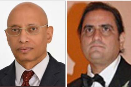 José Manuel Pinto Monteiro y Álex Saab