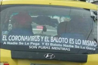 Taxista no cree en el coronavirus