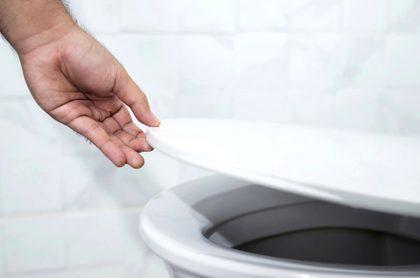 Cerrar tapa del inodoro evita propagación del coronavirus.
