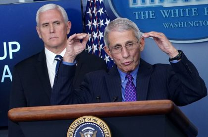 Fauci y Pence
