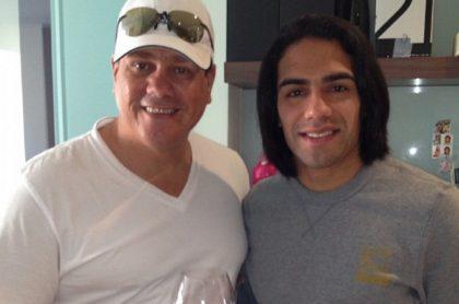 Herbert King, actor, con su sobrino Radamel Falcao García, futbolista.