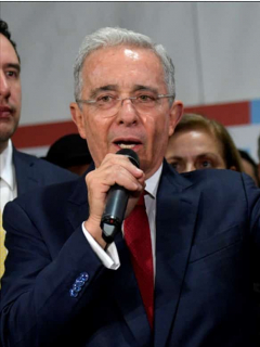 Álvaro Uribe y Piedad Córdoba