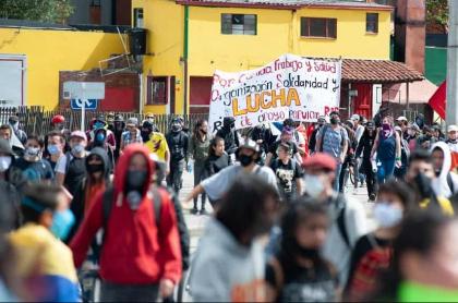 Marchas en Bogotá durante la pandemia de COVID-19