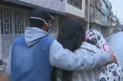 Desalojados en Bogotá