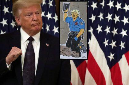 Donald Trump / Mural George Floyd