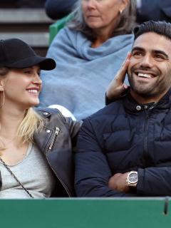 Lorelei Tarón, cantante, y su esposo Falcao García, futbolista.