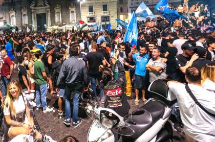 Hinchas del Napoli