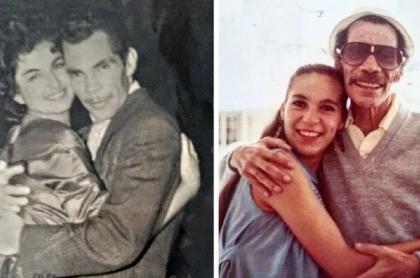 Araceli Julián junto a su esposo. Ramón Valdés / Carmen Valdés junto a su papá, Ramón Valdés.