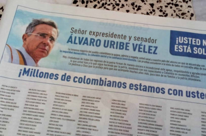 Aviso de prensa Uribe