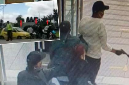 Graban escape de ladrones que robaron joyería en Bogotá