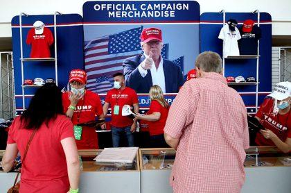 Trump y el uso de tapabocas.