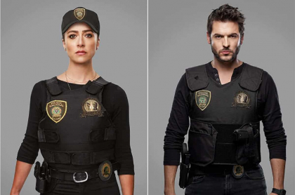 Verónica Orozco y Rodrigo Candamil, actores.