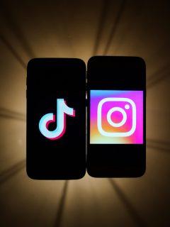 TikTok e Instagram