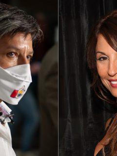 Claudia López, alcaldesa de Bogotá, y Amparo Grisales, actriz.
