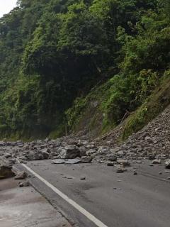 Deslizamientos en la vía Bogotá-Villavicencio