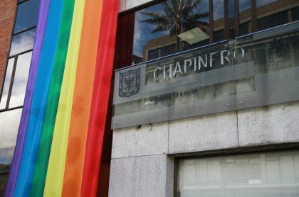 Bandera LGBTI en Alcaldia de Chapinero