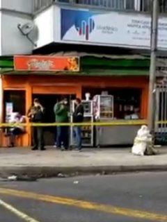 Violenta balacera en Bogotá por robo de una ferretería.