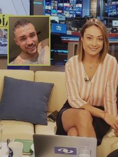 Juan Diego Alvira y Mónica Jaramillo, presentadores, y Jessi Uribe, cantante.