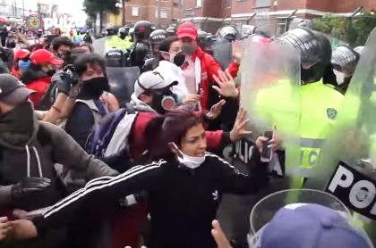 Protestas en Bogotá por violanción de niña indígena