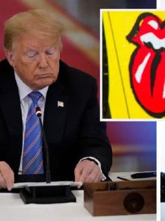 Donald Trump, presidente de EE. UU.  / Mick Jagger, vocalista de los Rolling Stones
