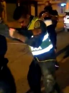 Policías borrachos en Cartagena.
