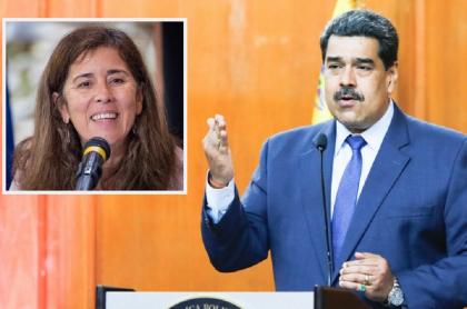 Isabel Brilhante Pedrosa, embajadora de la Unión Europea en Venezuela / Nicolás  Maduro, presidente de Venezuelante Pedrosa,