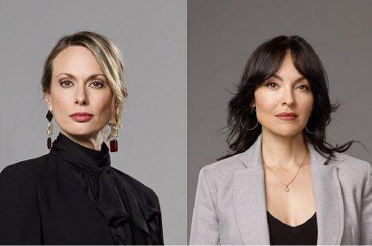 Geraldine Zivic y Carolina Gómez, actrices.