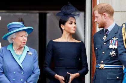 Reina Isabel II, Meghan Markle y el príncipe Harry