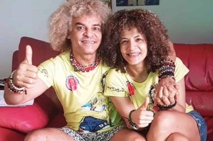 Carlos 'Pibe' Valderrama y Elvira Redondo
