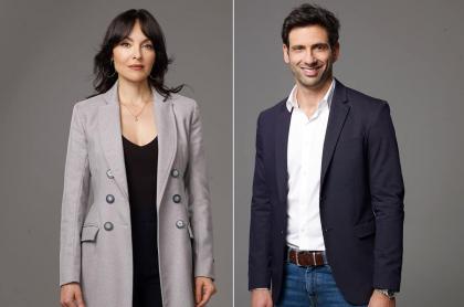 Carolina Gómez y George Slebi, actores.