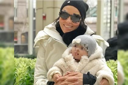 Paula Andrea Betancur y su hija