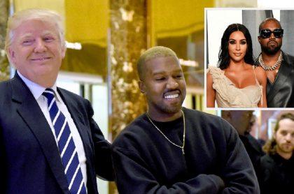 Fotos de archivo: Donald Trump y Kanye West (2016) / Kim Kardashian y Kanye West (2020)