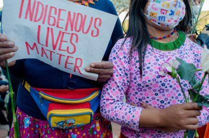 Protesta por violación de niña indígena